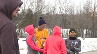 Story image: Fulton runners beat the cold at Hot Cocoa Hustle 5k