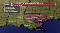 Severe Thunderstorm Watch in effect for parts of metro Baton Rouge