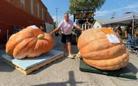 Story image: Missouri man grows two record-setting pumpkins