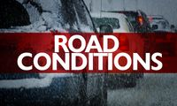 Story image: Winter warning and water main break causes caution on the road