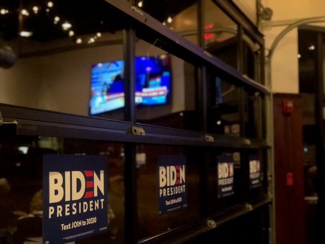 Joe Biden watch party in Kansas City, Tuesday March 10, 2020.