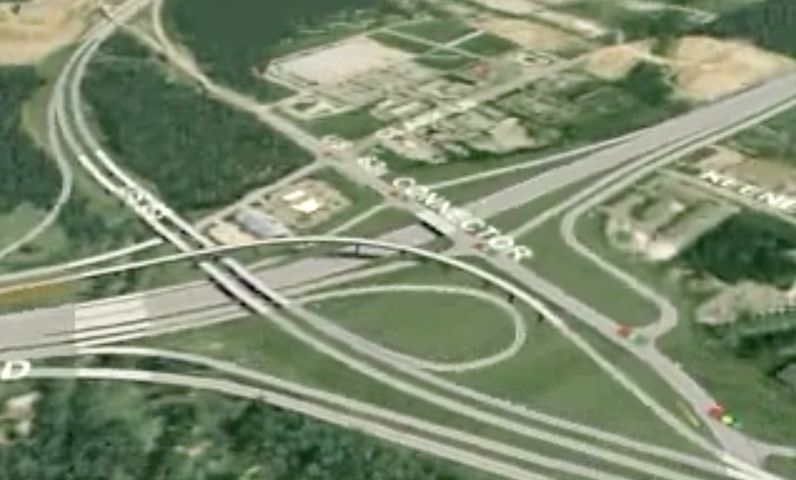 A rendering of recommended improvements to the I-70/US 63 interchange in Columbia. Courtesy improveI70.org.