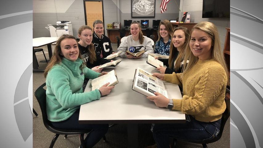 Courtesy: Dr. Matt Smith, Centralia High School Principal From left to right: Lynsie Curtis, Carter Hawkins, Ella Holiman, Gwendolyn Bostick, Scarlett Fox, Anna Romine and Mallory Smith