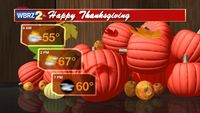 Quiet Thanksgiving and Friday, another front late Saturday