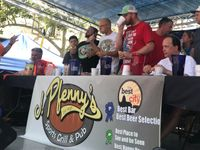 Story image: Winner of Jefferson City hot dog eating contest downs record number of dogs