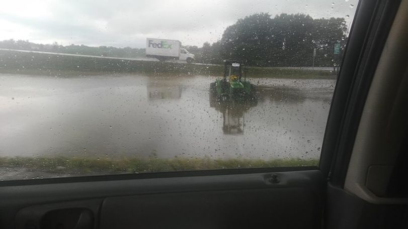 Flooding in front of Camping World in Columbia, photo courtesy of Amanda Carroll.