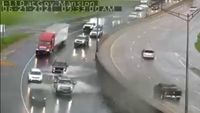 Pockets of high water spotted along I-110 Monday morning
