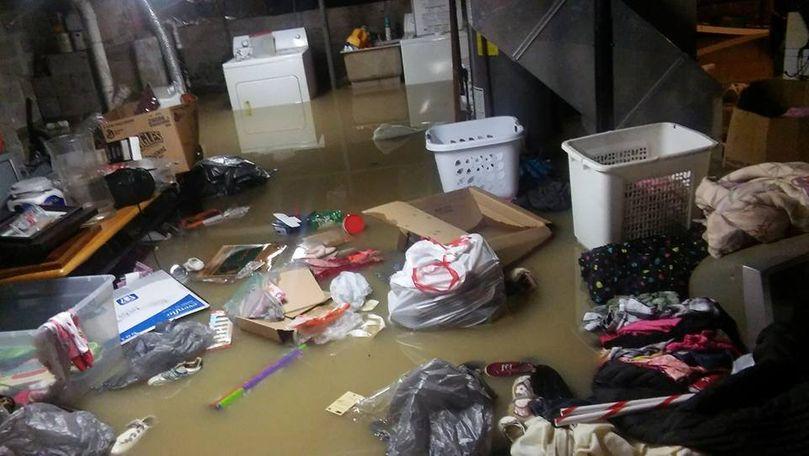 Heavy rain flooded this basement in Fulton, Missouri. Photo/Leslie Bruce.