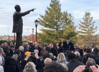 Story image: Norm Stewart statue unveiled outside Mizzou Arena