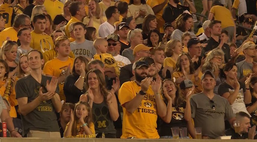Fans enjoy a 50-0 romp of SEMO on Saturday the 14th at Faurot Field.