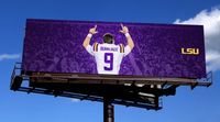 LSU throws up 'Burreaux' billboards after QB's final game in Tiger Stadium