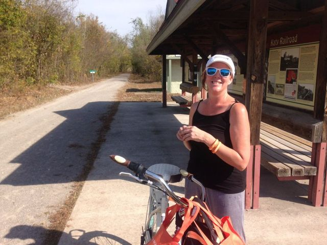 Tracy McClard biked 200 miles from Sedalia to St. Charles to raise awareness for juvenile justice reform.