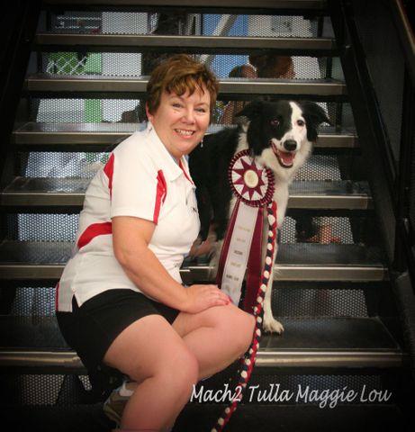 Owner Lori LeBlanc and dog Maggie.