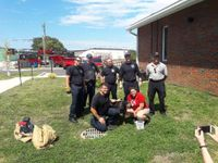 Story image: Firefighters rescue dog trapped in drainage pipe