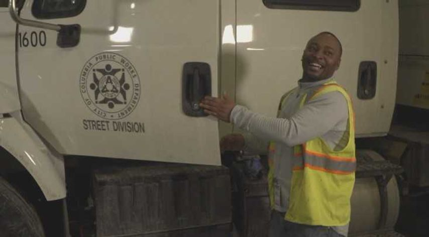 Teron Wings smiles while explaining his time working with Columbia's street division through Job Point's heavy highway construction program.