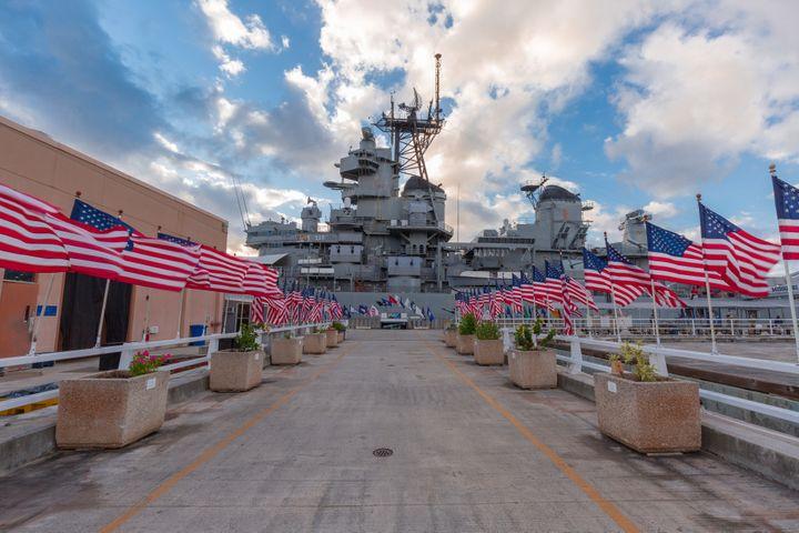 USS Missouri photo courtesy of Battleship Missouri Memorial.
