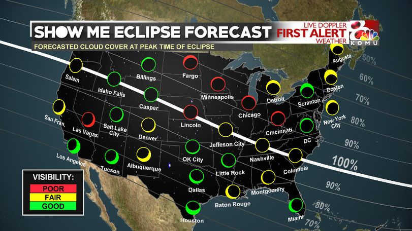 National Eclipse Viewing Forecast