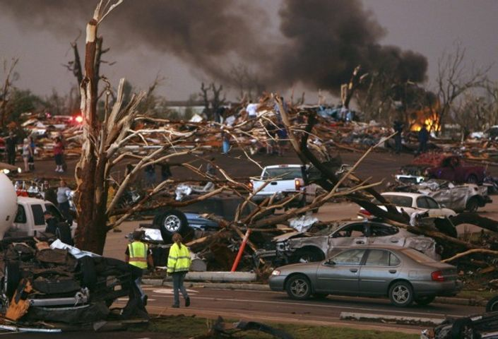 A look at the damage from the May 22, 2011 EF-5 tornado in Joplin, Missouri.