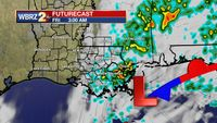 Returning clouds, stray showers possible