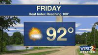 Triple digit heat until showers return to the forecast