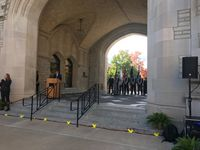 Story image: MU hosts annual Veterans Day wreath laying ceremony
