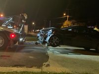 Story image: Three-car crash shuts down one lane of Providence Road