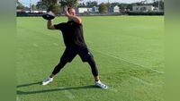 WATCH: Drew Brees throwing ball again for first time since injury