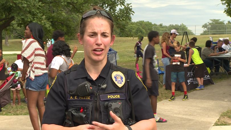 In this July 28, 2018 file photo, Officer Andria Heese speaks to a KOMU 8 reporter.