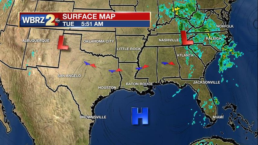 front to stall in the region  return showers and storms