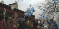 Story image: Fulton soup kitchen hosts balloon release to remember hit and run victim