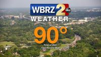Baton Rouge hits first 90 degree high Wednesday, ties daily record
