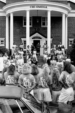 Chi Omega sorority rush, 1989