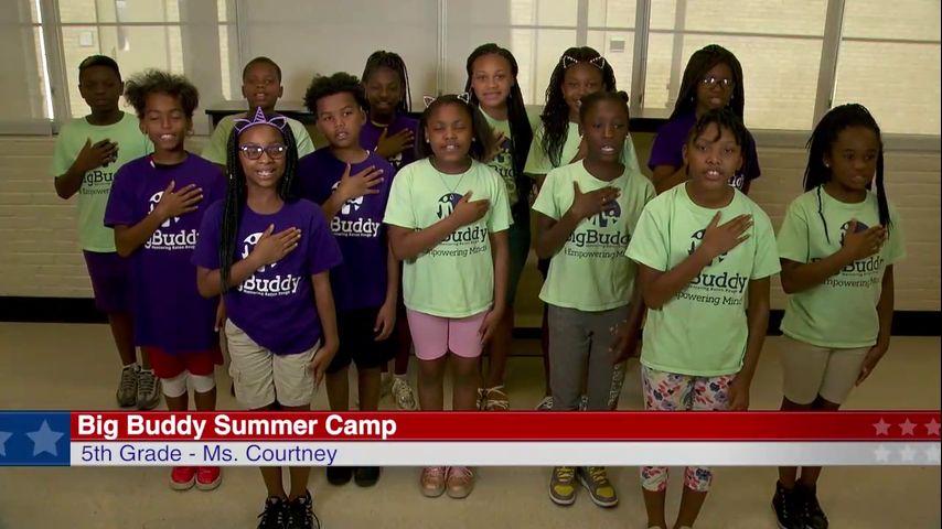 The Pledge of Allegiance: Big Buddy Summer Camp - Ms  Courtney, 4th