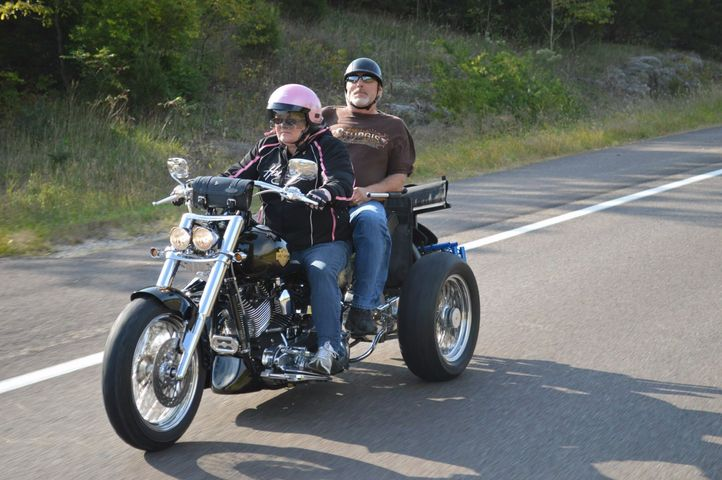 Blind motorcycle rider shows you can always keep doing what you love