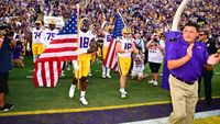 Defense and balanced rushing attack power LSU to season opening win over McNeese 34-7