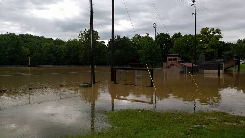 Fulton, Missouri saw flash floods after some areas got up to 8 inches of rain. Photo/Michael Rogers.