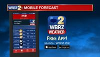 Download the free WBRZ weather app