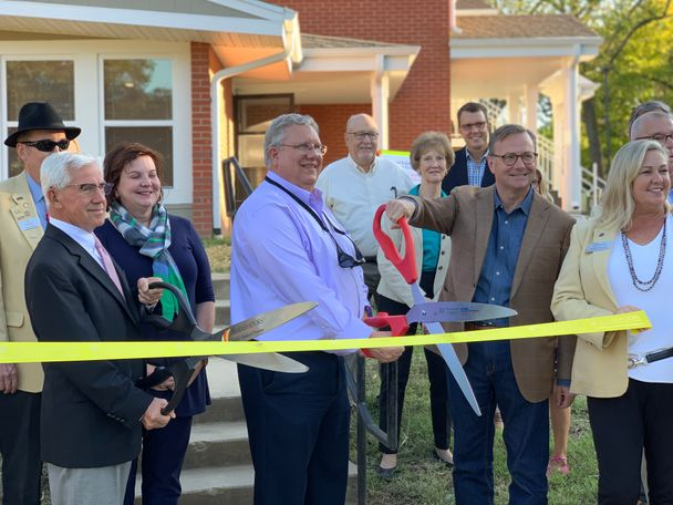 City officials cut the ribbon, officially opening the newly-renovated Bryant Walkway Apartments.