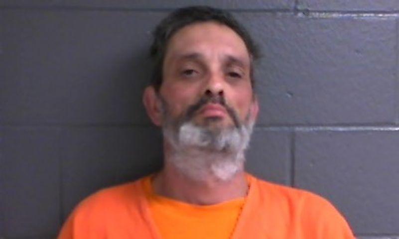 Timothy Bodimer, 47, was arrested on suspicion burglarizing property and possessing drug paraphernalia.