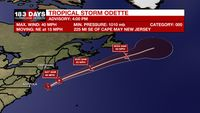 Tropical Storm Odette forms off the Mid-Atlantic Coast