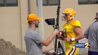 With Burrow Out, Defense Dominates in First LSU Scrimmage