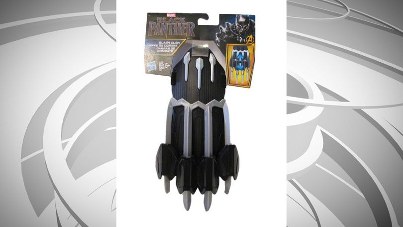"W.A.T.C.H. says these rigid, plastic claws, based on a popular comic book and movie character, are sold to five-year-olds to ""slash"" like the Black Panther, while simultaneously advising not to ""hit or swing at people."""