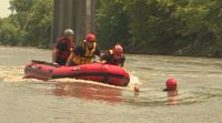 Story image: Multiple fire departments team up for water rescue training