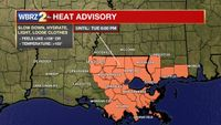 Baton Rouge area under heat advisory; It could feel like 108 degrees today