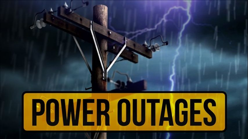 Power outages reported across multiple parishes Monday