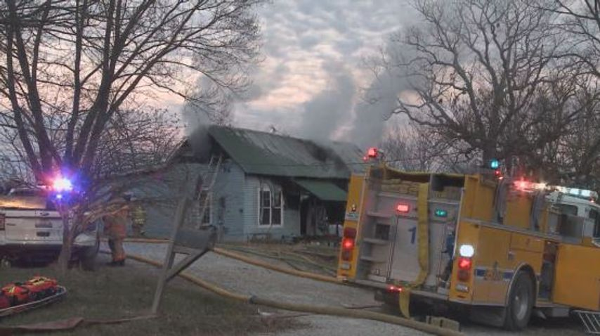 Boone County house fire forces family from home