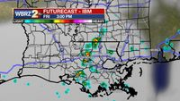 Afternoon showers and Air Quality Alert