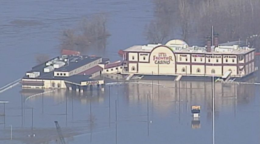 St. Joseph's Frontier Casino is one of many local businesses impacted by the flooding.