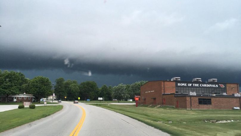 Photo of cloud cover in Tipton, courtesy of Sarah Strobel