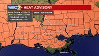 Heat advisory extended into Tuesday evening